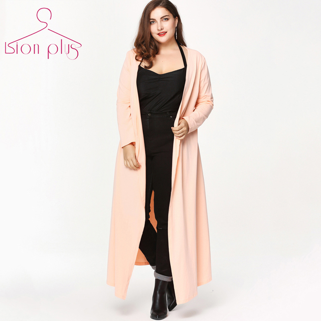 Long Trench 2017 Spring Coat Women Plus Size 6XL 5XL 4XL Office ...