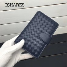 ISHARES New Fashion Genuine sheep Leather Womens Wallets Lambskin Classic Purses With Coin Pocket Medium style IS1346