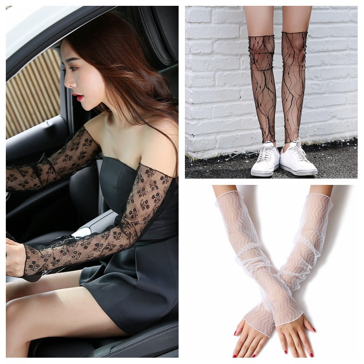 Apparel Accessories 1 Pair Women Summer Fishnet Dual Function Silk Anti-uv Gloves Or Leg Lace Mesh Socks New Design Hot Sale 2018 Moderate Cost