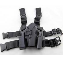 Tactical Right Leg Thigh Holster w/ Magazine Torch Pouch for Glock 17 19 22 23 31 32