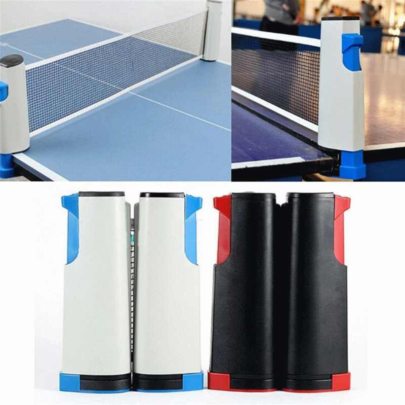 Retractable Table Tennis Table Grid Plastic Strong Mesh Net Portable Net Kit Net Rack Replace Kit For Ping Pong Playing Network