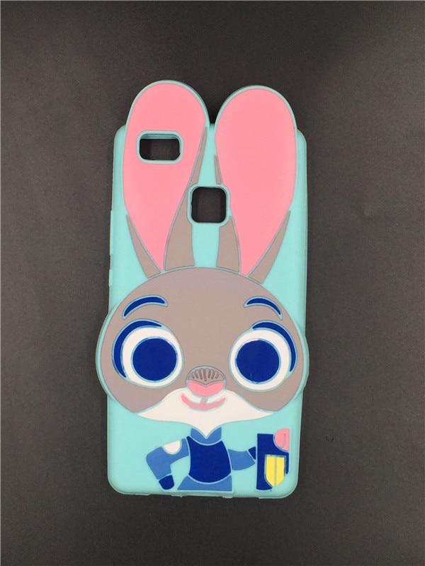 3D Cute Cartoon Cat Rainbow Unicorn Ice Cream Rabbit Bunny Back Cover For Huawei P8 P8 Lite P9 P9 Lite P10 Lite P10 Plus
