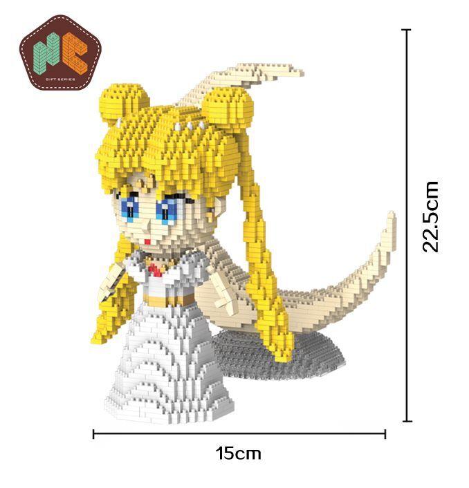HC 9037 Anime Sailor Moon Tsukino Usagi Girl 3D Mini Diamond Blocks Building Toy