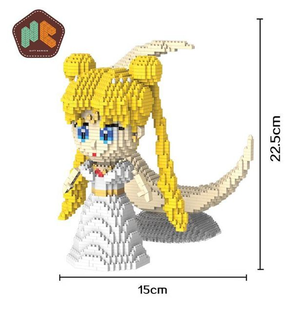 US $3 19 |Cute Japanese Anime Mini Blocks Sailor Moon Cartoon Model  Building Toys for Kids Gifts brinquedos Girls Present 1003-in Blocks from  Toys &