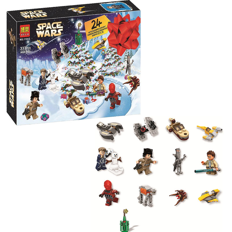 Bela 11013 Star Wars Advent Calendar Building Block Bricks Toys Compatible With Legoings Friends 75213 Christmas Gift