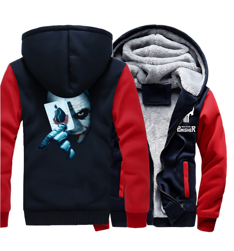 1d9d4408a Joker Heath Ledger Print Hoodeis Men Vintage Movie Batman 2 The Dark Knight  Rises 2017 Winter Thick Sweatshirts Hoody Harajuku-in Hoodies & Sweatshirts  from ...