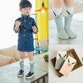 Calcetines lindos del bebé conejo de dibujos animados calcetines largos para niñas ropa de época de algodón para niños calcetines