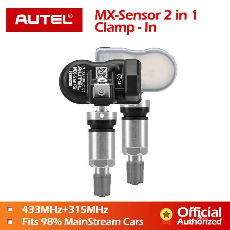 Autel MX Sensor 433mhz 315mhz 2 in1 MX Sensor Universal Tire Pressure Programming Clamp In Autel TPMS PAD TS601 TS401 TPMS Tool-in Pressure & Vacuum Testers from Automobiles & Motorcycles