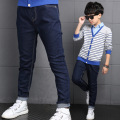 New Arrive Childre's Trousers Spring Autumn Boy's Fashion Jeans Kids Long Solid Pants Korean Straight Elastic Waist Clothing Hot