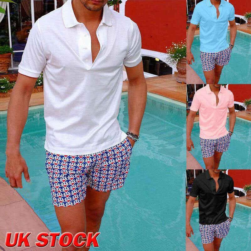 Новая Мужская активная рубашка с коротким рукавом Размер M-3XL однотонная Спортивная одежда для отдыха