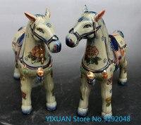 Новые продукты, Тан три Цвет, керамика, лошадей, украшения, пара фарфор ремесла, украшения дома, антиквариат коллекция