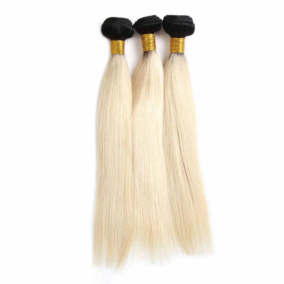 Предварительно цветные медовые пучки светлых волос прямые волны 1B 613 не Реми бразильские человеческие волосы