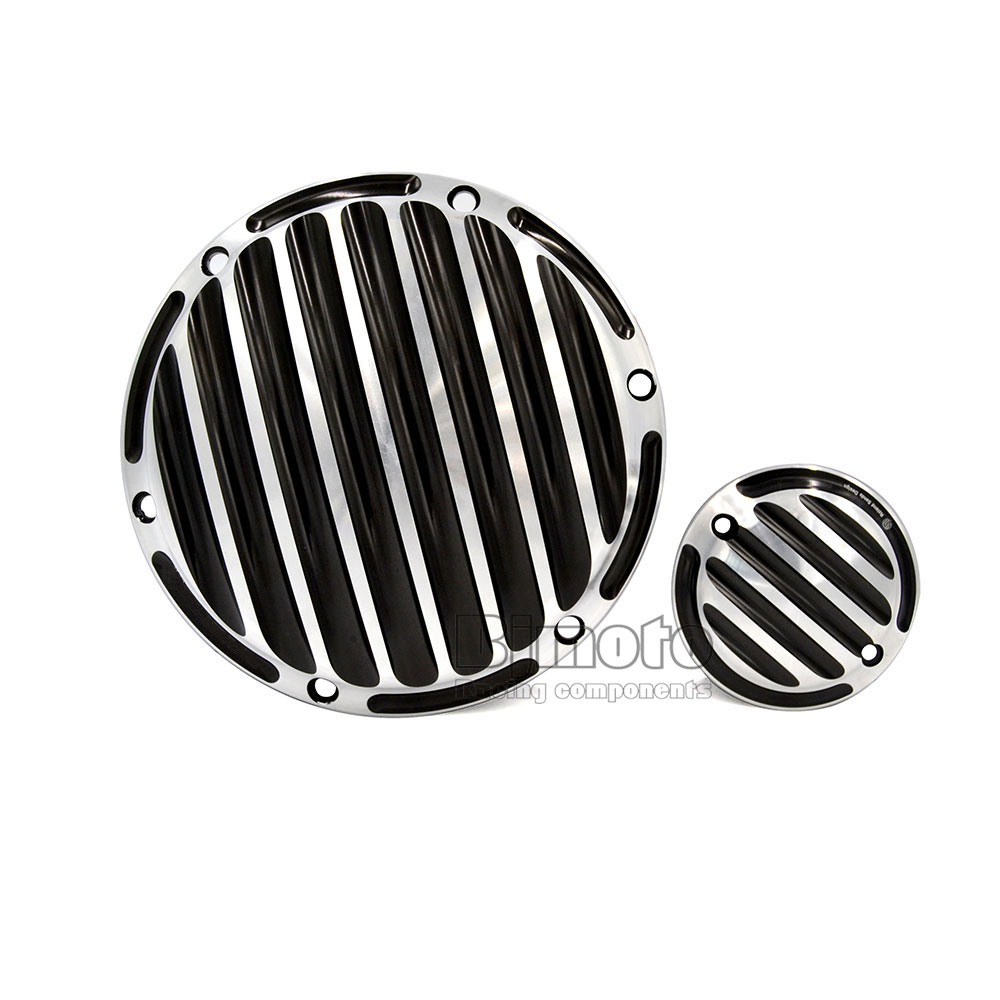 TMC-004 Motorcycle CNC Deep Cut Derby Timing Timer Covers For Harley Sportster 883 1200 XL mtsooning timing cover and 1 derby cover for harley davidson xlh 883 sportster 1986 2004 xl 883 sportster custom 1998 2008 883l