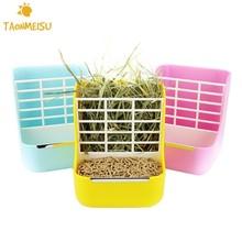 2-in-1 Grass Frame Food Pots Fixed Grass Shelf Food