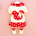 Retail new Mickey Minnie set of children's clothing 3 color cartoon and casual trousers long sleeved sweater suit for 2-5 years
