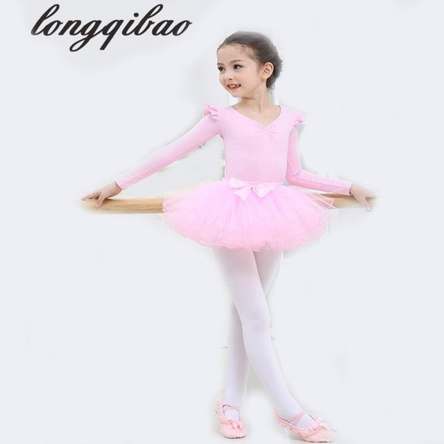 461c8fea6 Children s dance costumes spring and summer long sleeved ballet ...