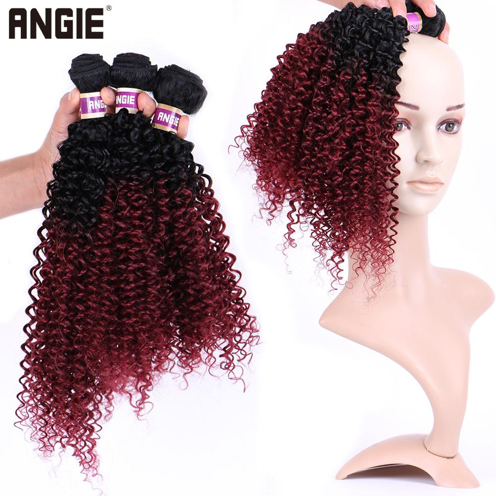 1 Bundle Kinky Curly Synthetic Hair Weave Bundles 16 18 20 Inches
