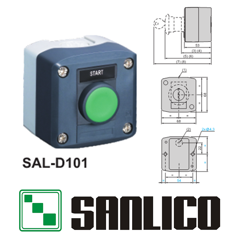 waterproof IP65 button switch control box station with momentary spring return push button switch SAL(LA68H XAL)-D101 with labelwaterproof IP65 button switch control box station with momentary spring return push button switch SAL(LA68H XAL)-D101 with label