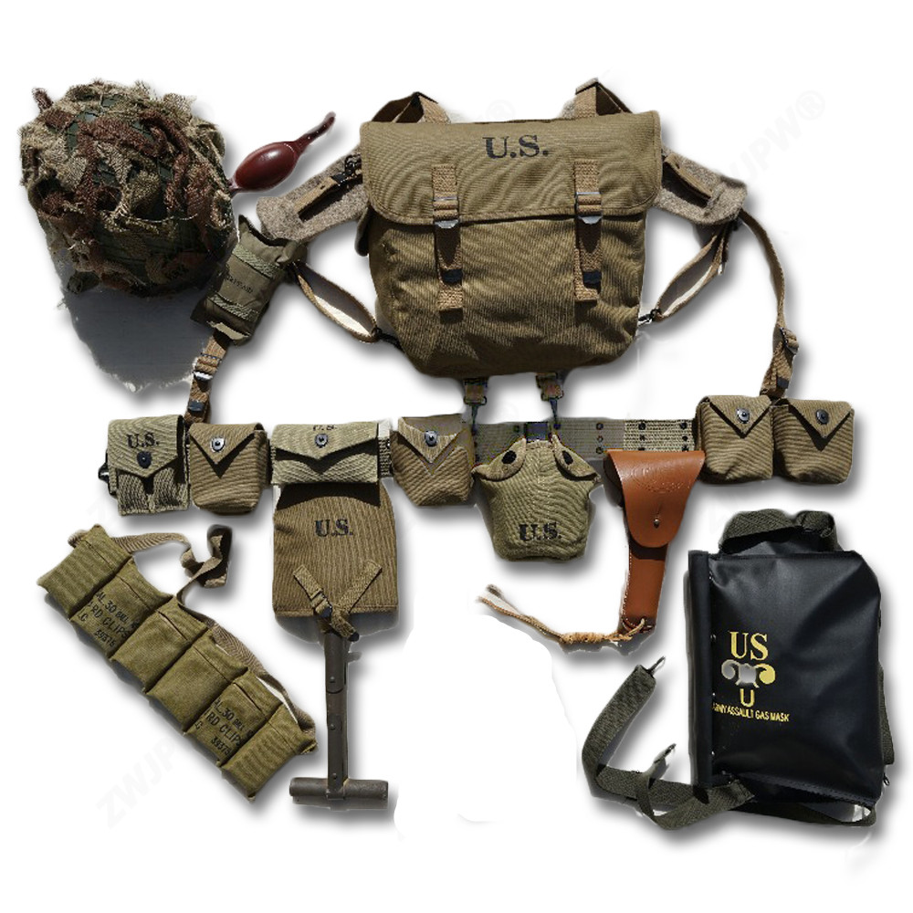Reproduction WW2 US AIRBORNE M1 Equipment D-DAY Normandy M36 M1911 M1910 M7 Combination