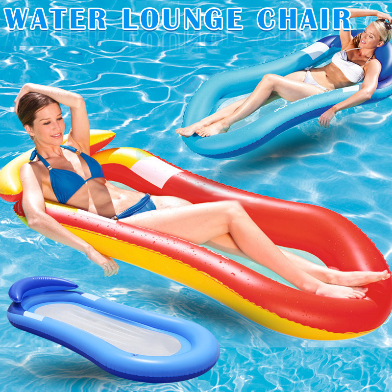 Newly Inflatable Water Hammock Floating Bed Lounge Chair Drifter Swimming Pool Beach Accessories  SM Shopping