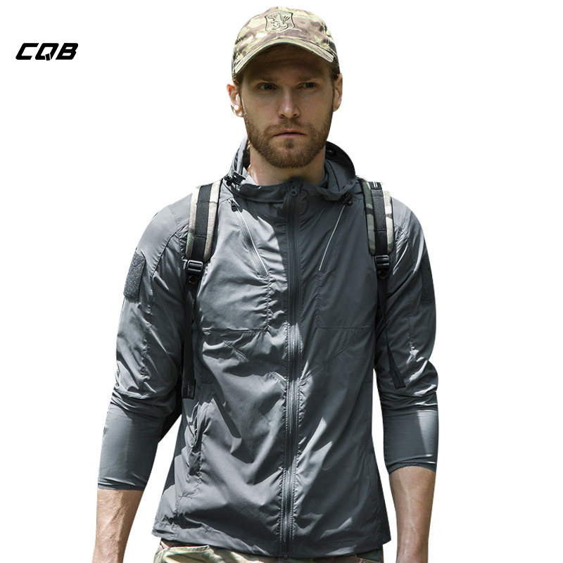 CQB Outdoor Camping Windbreaker Men Light Breathable Water Repellent Jacket UPF20+ Sunscreen Skin Coat Hunting Clothes цена 2017