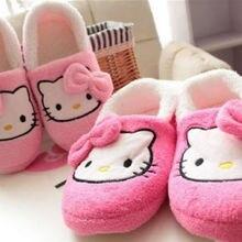 Новинка; женская обувь «hello kitty»; тонкий светильник; домашние тапочки; домашняя обувь из плюша; yey-9101