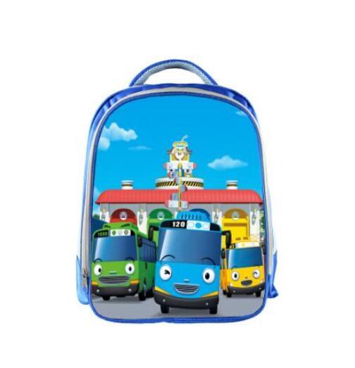 Image 3 - TAYO Bus Blue School Bags for Teenagers Cartoon Cars 13 inch 3D Printing Boys Girls Children Backpack Kids School Bag-in School Bags from Luggage & Bags