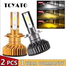 цена на TCYATO Mini Canbus lampada H4 H7 LED de la linterna del coche 12V 7200LM 4300 K 6000 K 3000 K lámpara H3 h1 9005 HB3 9006