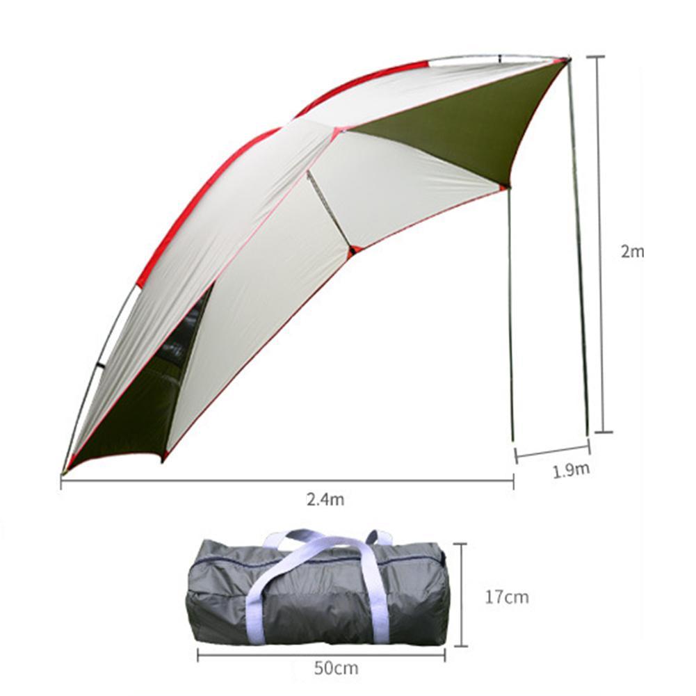 Outdoor Draagbare Camper Staart Rekening Tent Self Driving Tour Barbecue Multi Persoon Regen Vizier Tuinhuisje Strand Luifel Tent brand New - 3