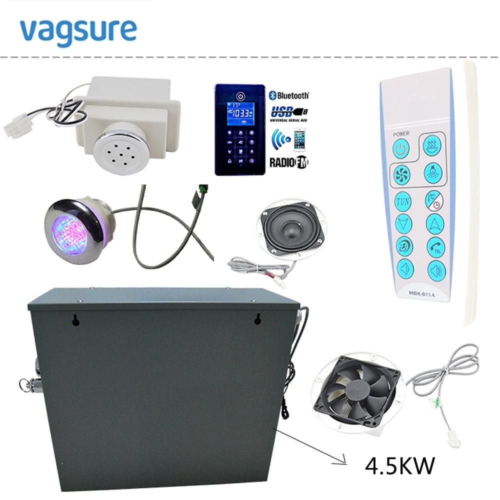AC 110V or 220V CE certified remote controlled 4.5KW home use steam control pad sauna bath generator for bathroom shower dc house new 9kw steam generator sauna bath home spa shower