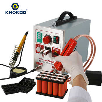SUNKKO Original 709A Spot Welder 1.9KW LED light Pulse Battery Spot Welding Machine with Soldering Iron 70B for 18650 Battery - DISCOUNT ITEM  0% OFF All Category