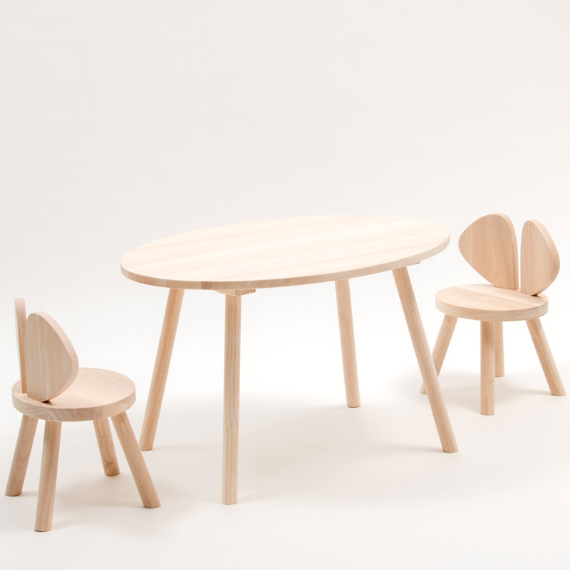 Ins Explosions papillon petites ailes chaise de souris banc en bois massif chambre d'enfant Match accessoires de tir
