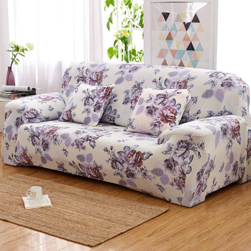 花柄弾性ストレッチソファカバー断面スローソファーコーナー家具アームチェアのための家の装飾