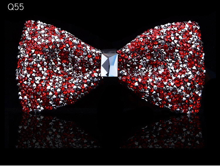 New bow tie crystal bling butterfly knot for men wedding banquet feast club party bridegroom shinning 8