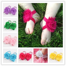 Baby Flower Foot Ring Shoes Infant Girls Boys First Walkers Foot Wear Newborn Photography Foot Accessories 0/24M 100Pairs/lot