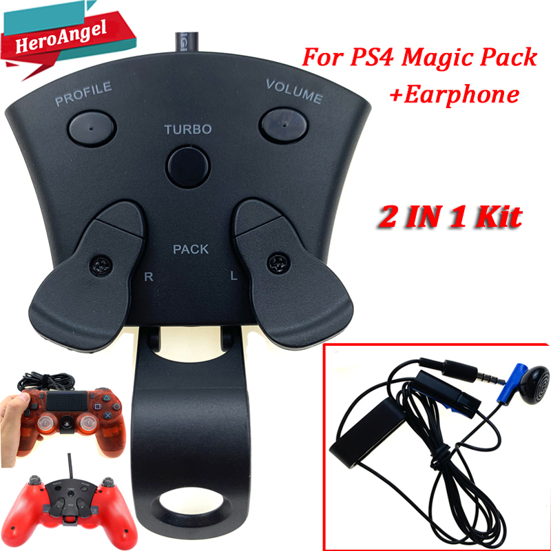 2019 For MAYFLASH Magic Pack For PS4 Controller Encoder FPS Adapter With MODS & Paddles For Playstation 4+Earphone