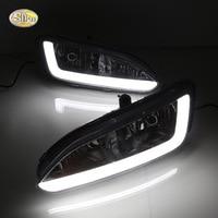 SNCN LED Daytime Running Lights for Hyundai Santa Fe IX45 2013 2014 2015 DRL 12V ABS Fog lamp house