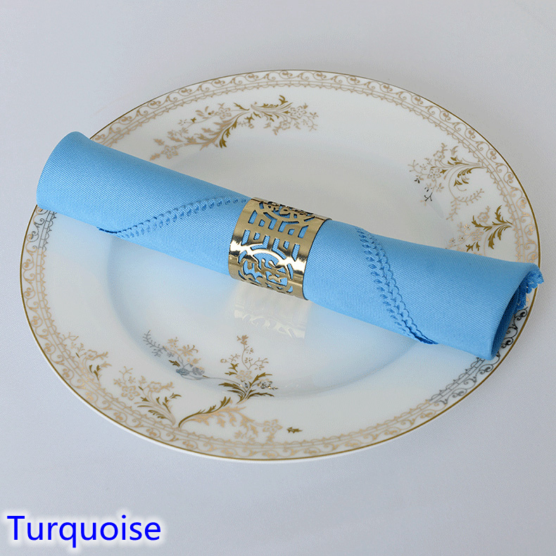 Turquoise colour Napkin plain polyester napkin for wedding hotel and restaurant table decoration wrinkle and stain resistant