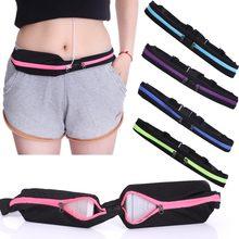 Pochete de corrida unissex, bolsa de bolso duplo, à prova d'água, para celular, com cinto, para cintura