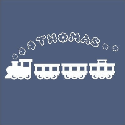 Us 909 30 Offcartoon Train Thomas Personalized Smoke Name Vinyl Wall Stickers Wallpapers Wall Decals Graphic For Boys Kids Rooms Home Decor In