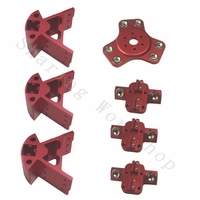 Reprap Delta Rostock Kossel k800 magnetic effector+carriage+Corner Fittings kit For DIY 3d printer