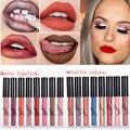 Marca de batom nude tonalidade do batom para os lábios cosméticos não desaparecer magia lip gloss longwear metálico fosco batom líquido tinte labbra