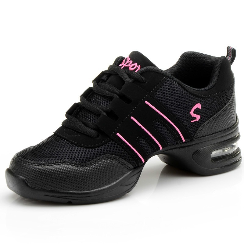 Fitness Sports Shoes Feature Soft Outsole Breath Dance Sneakers For Woman Practice Thin Modern Jazz