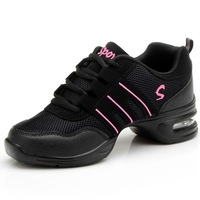 Fitness Sports Shoes Feature Soft Outsole Breath Dance Shoes Sneakers For Woman Practice Shoes Thin Modern Dance Jazz Shoes