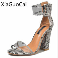 Plus Size 42 43 Women Pumps Sexy Square Heels Peep Toe Super High Heels Sandals For