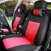 (Front + Rear) Universal Car Seat Cover for Jac All Models Rein seat cover 13 s5 faux s5 car auto car accessories styling