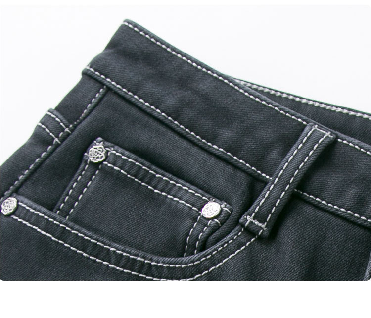 KSTUN FERZIGE Jeans Woman Flare Pants Winter Thicken Warmer Fleece High Waist Black Stretch Mom Jeans Women Push Up Sexy Plus Size 36 15