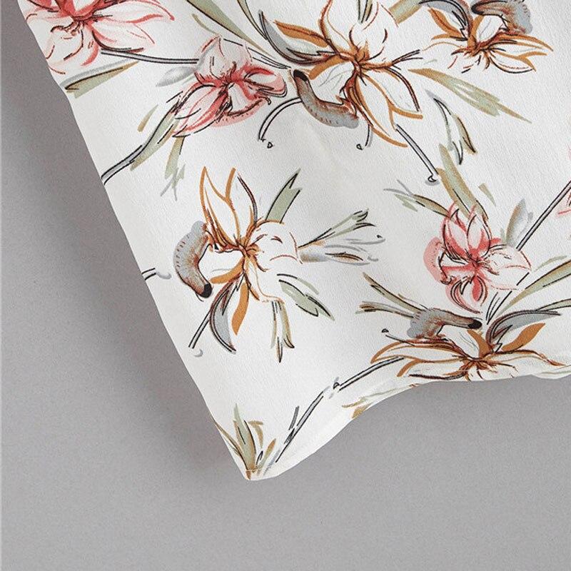 Floral Print White Blouses 8