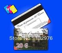 Cartão magnético plástico da listra e impressão do cartão do membro do pvc