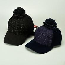 Snapback Big Flower Women's Pompoms Ball Shoe Hip Hop Hats Baseball Cap Women Girls Autumn Winter Warm Hat Female Gorro Chapeau